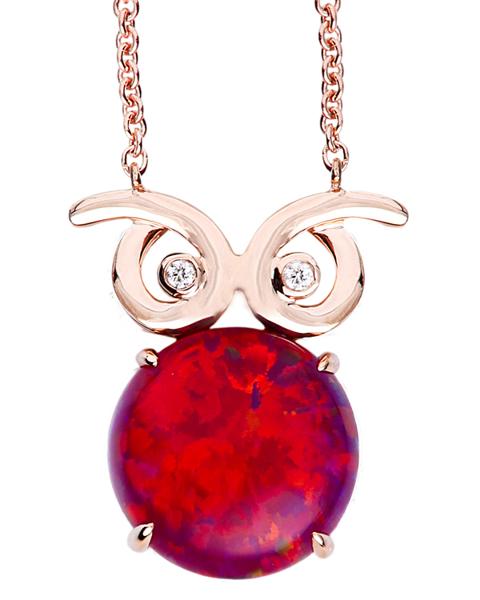 photo of owl opal pendant