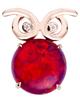 owl opal pendant