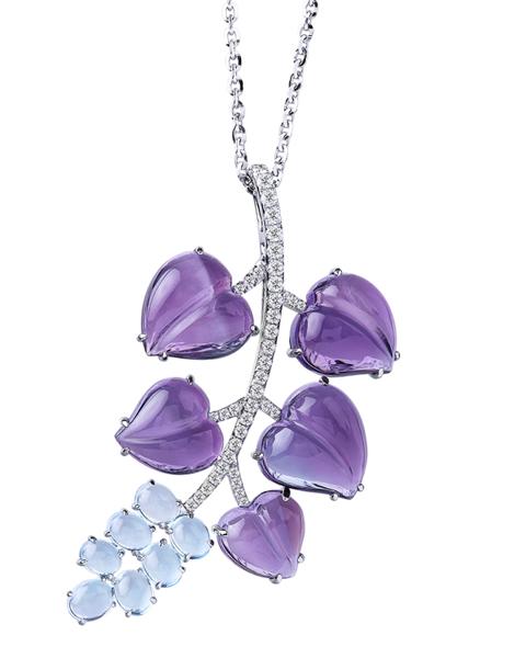 photo of amethyst & aquamarine pendant