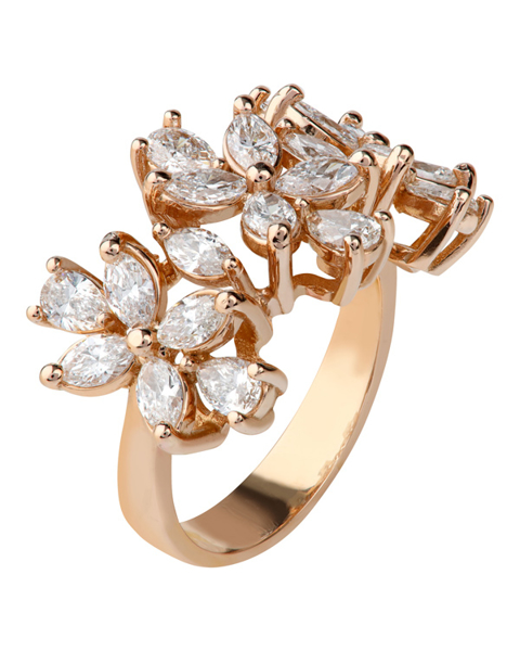 Photo of Pear and Marquise-cut diamond ring