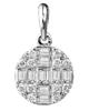 photo of baguette cut diamond pendant