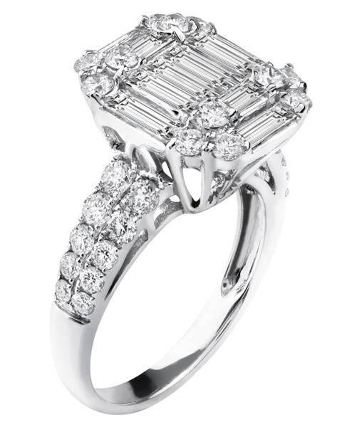 photo of baguette cut diamond wedding ring
