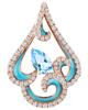 photo of blue enamel and topaz pendant