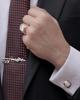 photo of brilliant cufflinks with black border