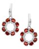 Photo of Oval cut Garnet half set earrings