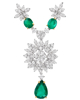 photo of Colombian emerald half set pendant