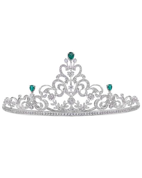 photo of diamond & emerald crown