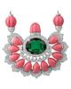 photo of emerald & shell pendant