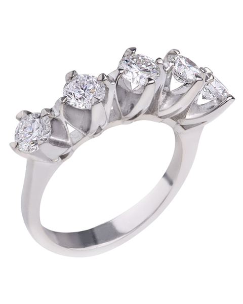 photo of five stone ring