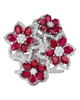 photo of flower design ring with ruby