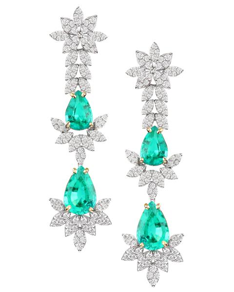 photo of Gilson emerald earrings