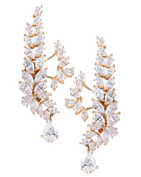 photo of marquise & pear cut diamond earrings