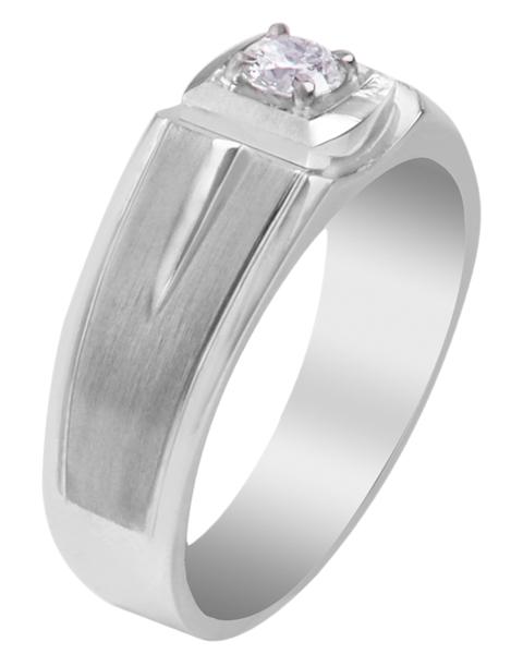 photo of men's solitaire diamond ring