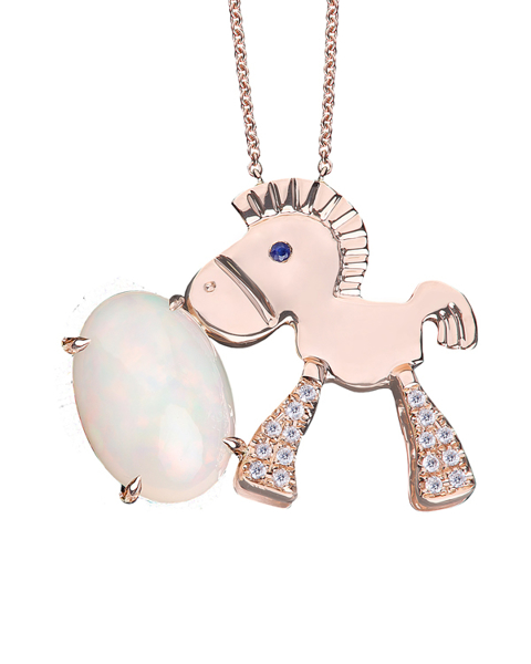 photo of opal horse pendant