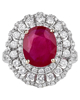 photo of oval cut ruby ring