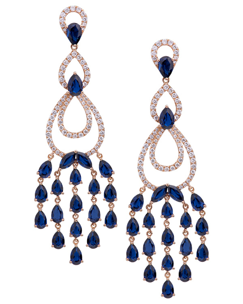 photo of pear & marquise cut sapphire earring