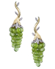 photo of peridot grape earrings