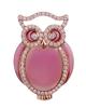 photo of pink enamel owl pendant