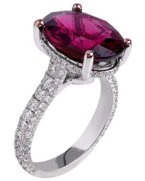 photo of rhodolite ring
