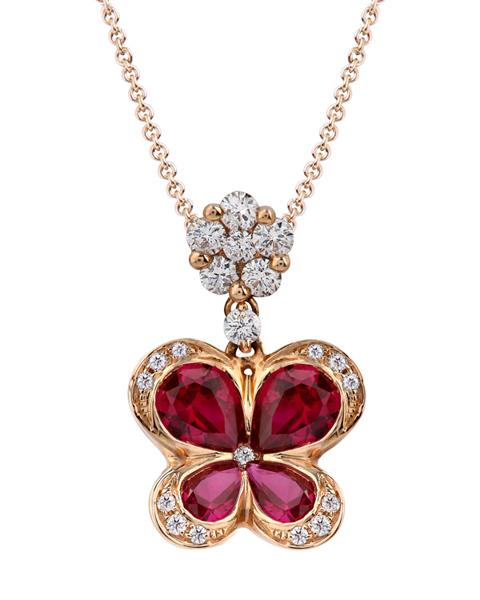 photo of ruby pendant flower