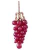 ruby grapes earrings