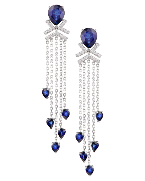 photo of shed sapphire earrings