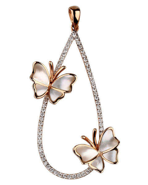 photo of shell butterfly pendant