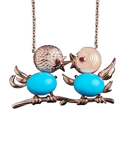 photo of turquoise birds pendant