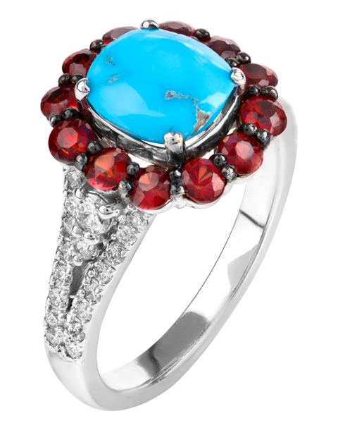 Photo of Turquoise and Ruby Ring