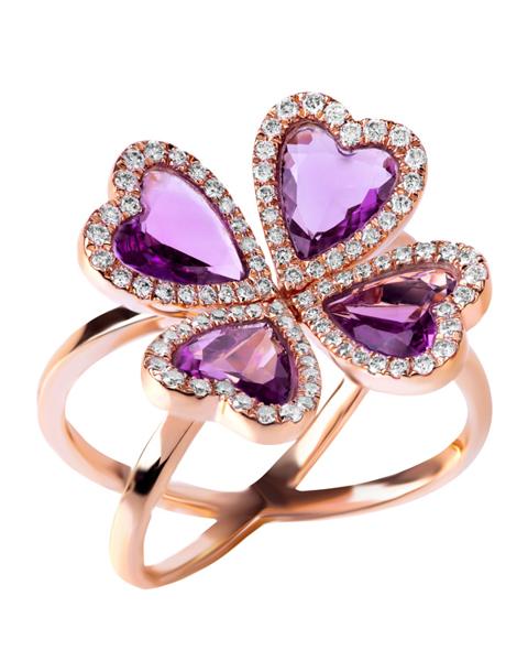 Photo of Heart Amethyst Ring