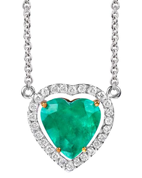 Photo of Heart Emerald Pendant