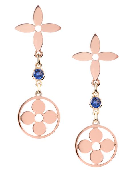 Photo of Rose gold flower earrings