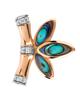 photo of fancy cut abalone shell earrings