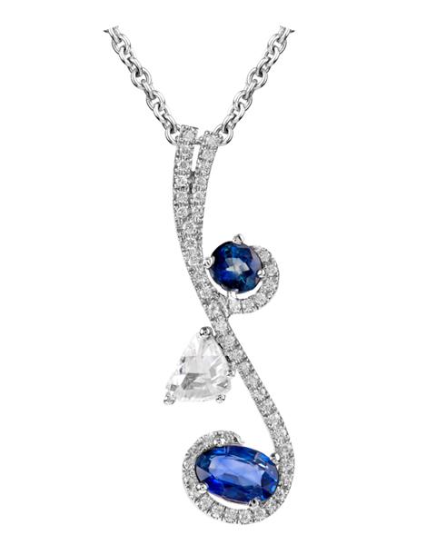 Photo of  Rose Cut Sapphire Pendant