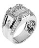 White Gold Baguette Cut Diamond Ring