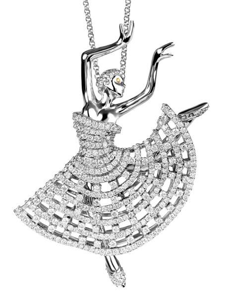 Ballet dancer pendant
