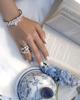 women's baguette diamond flower bracelet