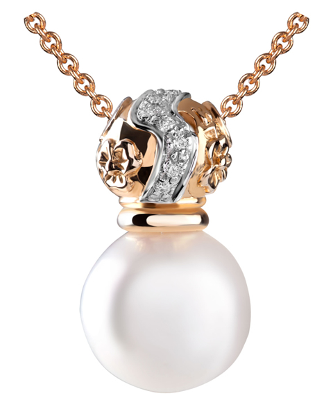 Photo of Rose Gold Pearl Pendant
