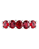 White Gold Oval Ruby ring