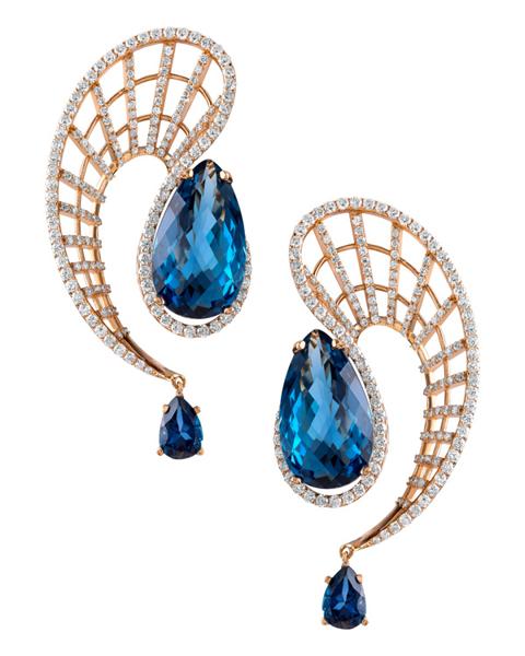 Photo of Blue Topaz earrings