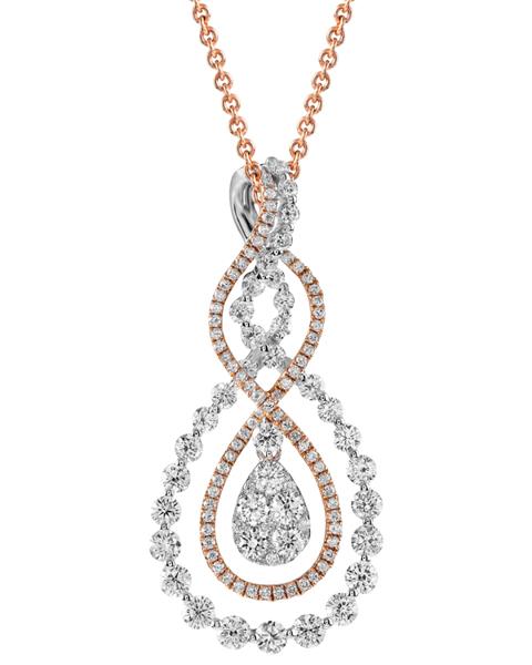 photo of round diamond pendant