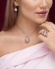 photo of white shell pendant