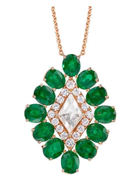 Women's Emerald Pendant