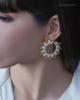 sun citrine earrings