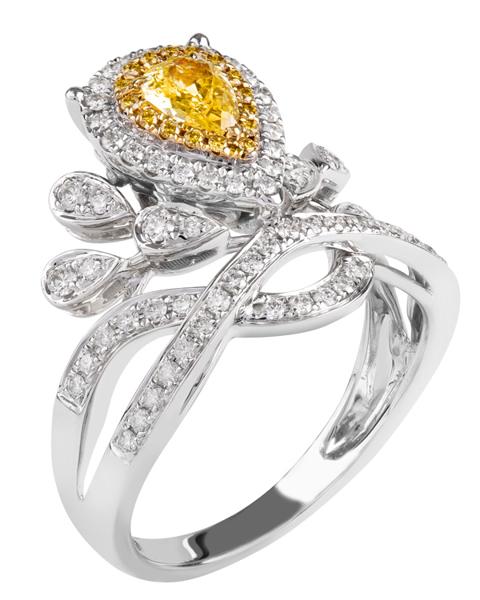 Women's Yellow Diamond Ring