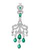 Women's Green Stone Jewellery Earrings