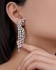 photo of white gold fancy cut diamond earrings