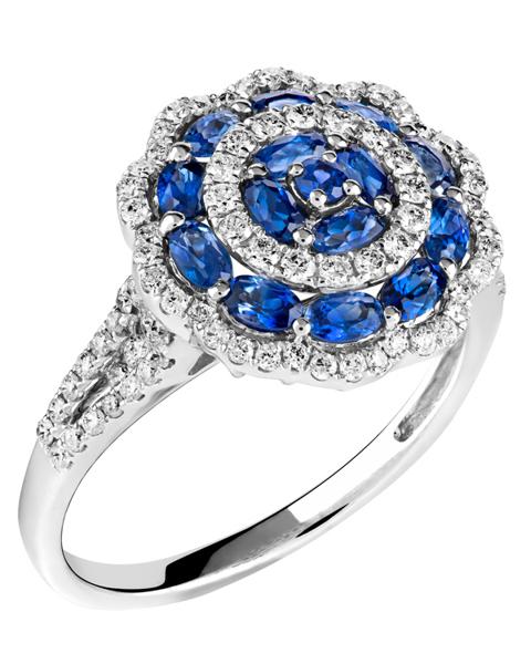 Photo of Diamond & Sapphire Ring