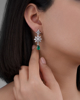 photo of Colombian emerald earrings