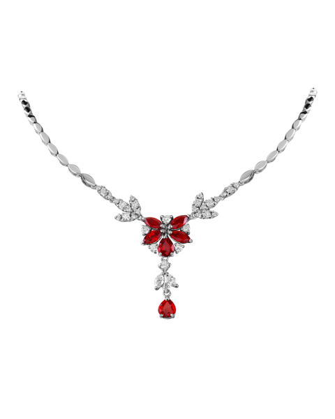 Photo of Ruby Flower Necklace